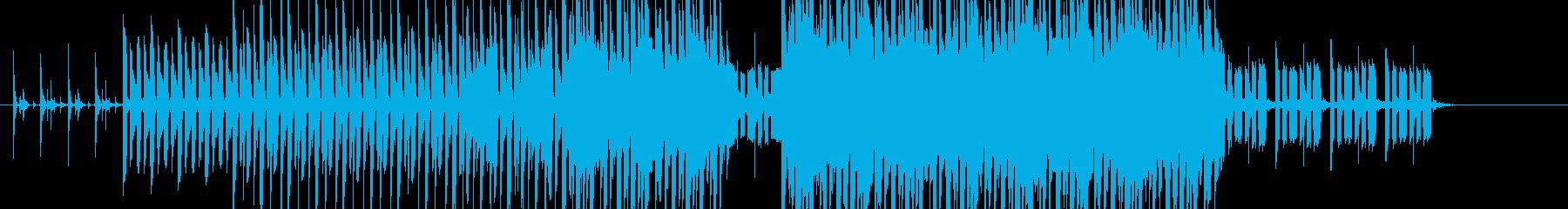 不気味で慌ただしい感じのテクノの再生済みの波形
