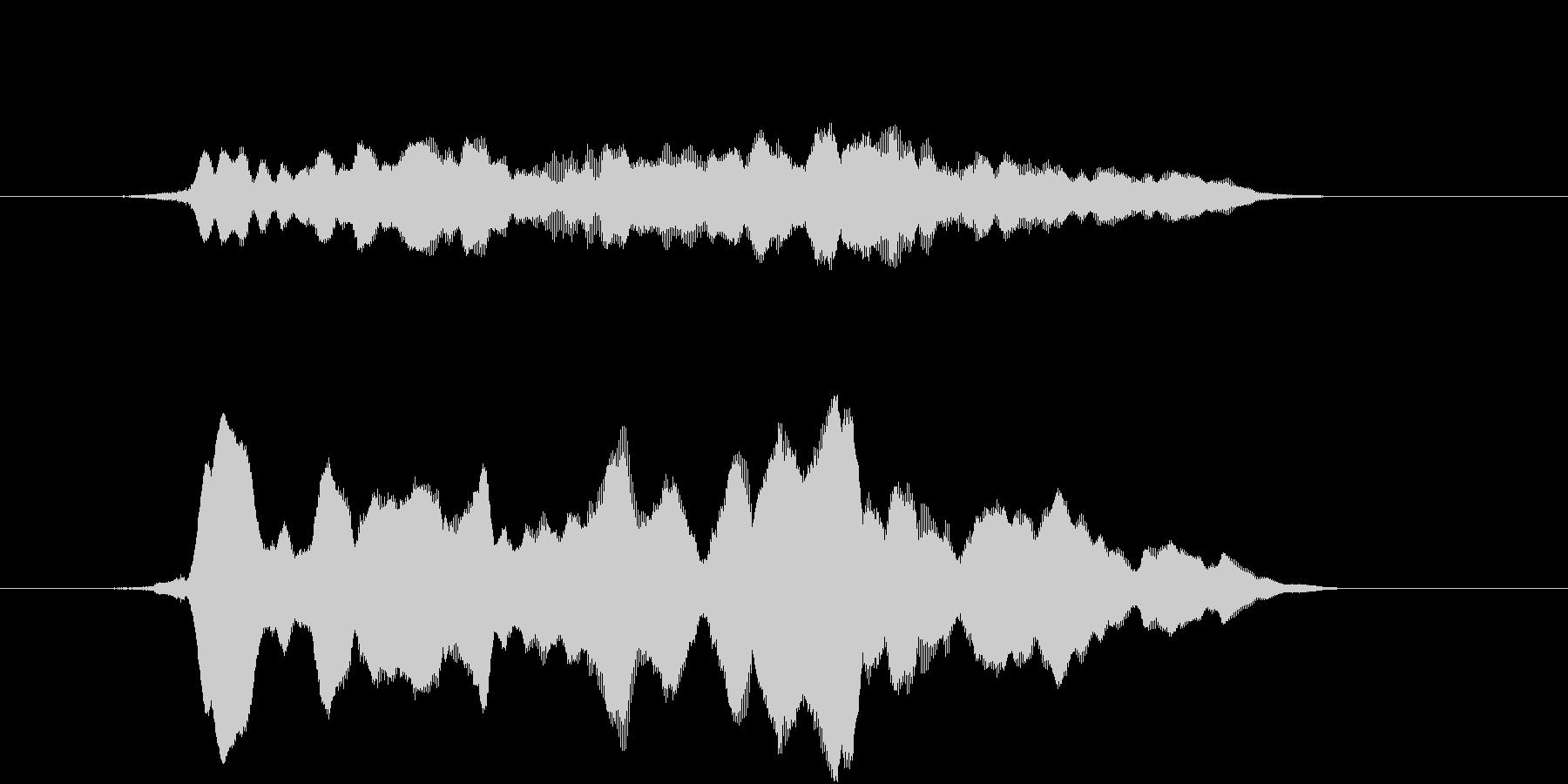 サウンドロゴ(和風、アジア)の未再生の波形