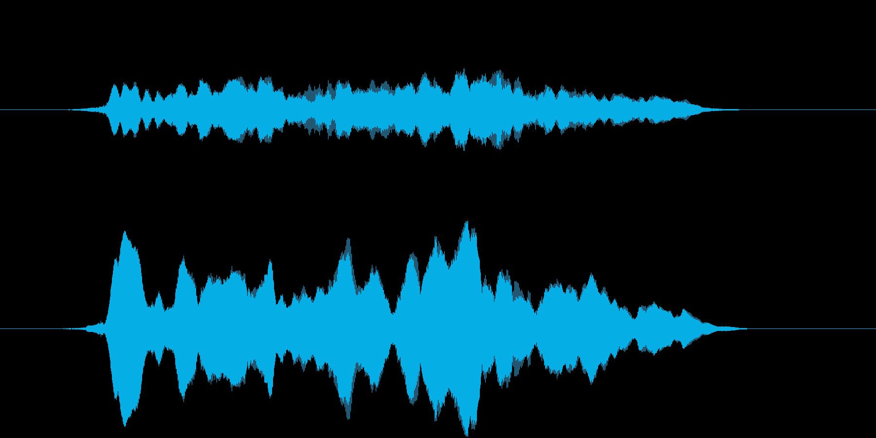 サウンドロゴ(和風、アジア)の再生済みの波形