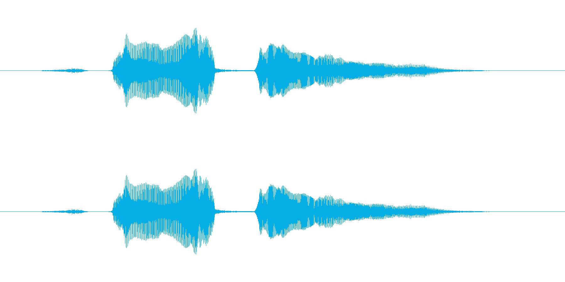 スタート!の再生済みの波形
