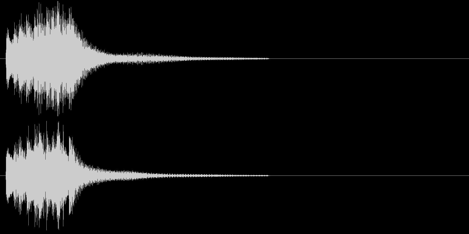 和風・琴のアタックの未再生の波形