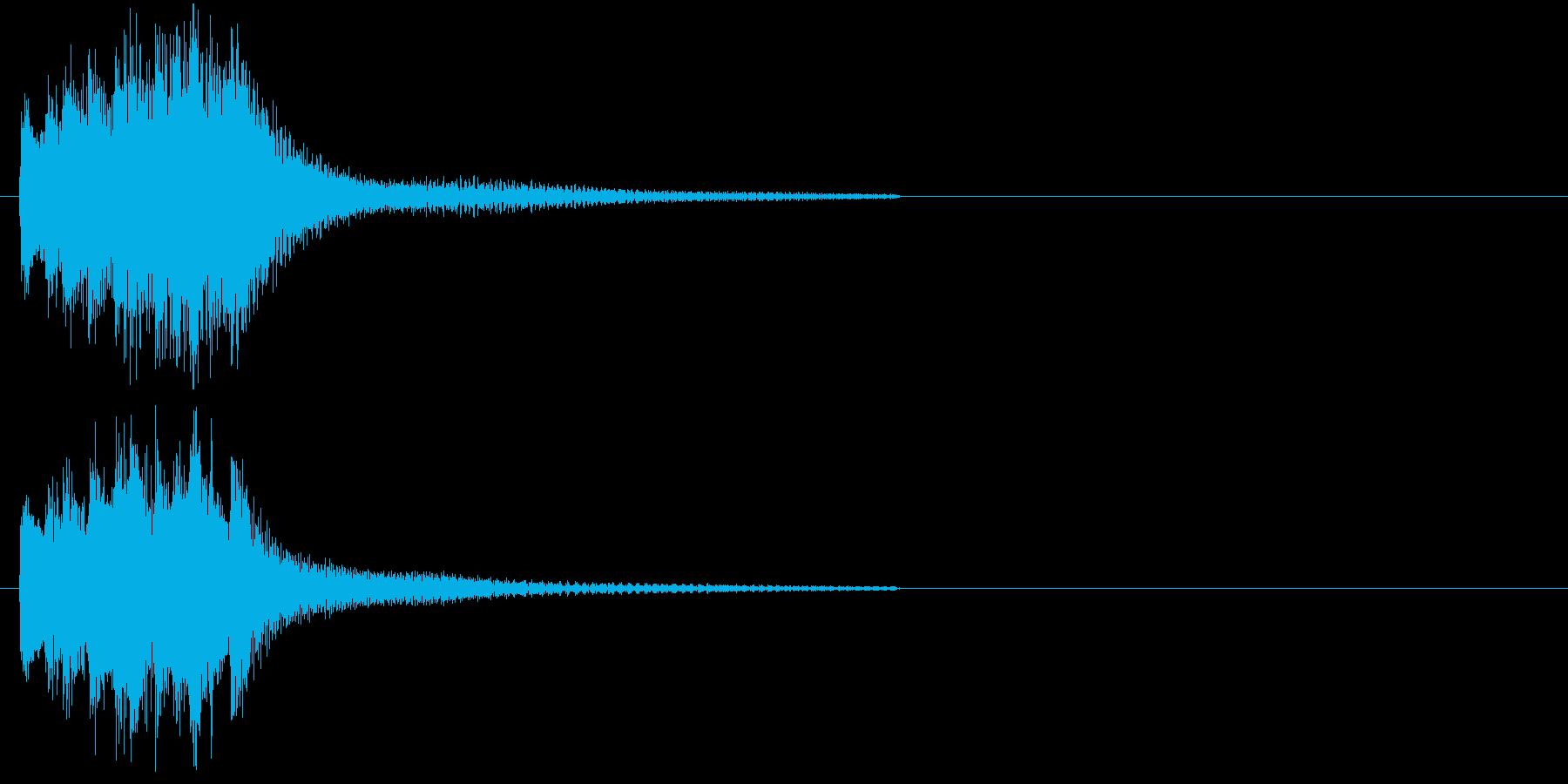 和風・琴のアタックの再生済みの波形