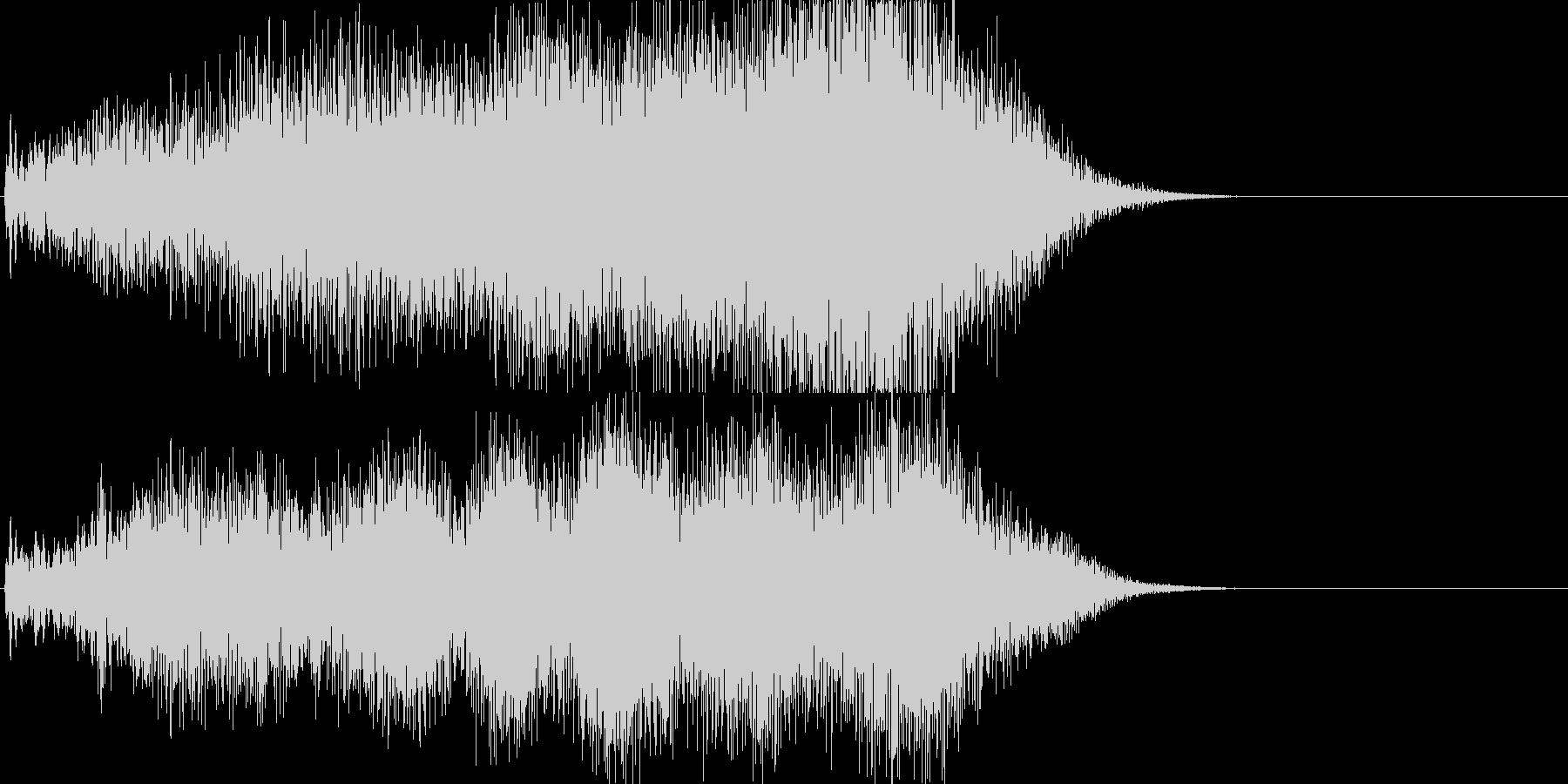 不気味なサウンドエフェクト(お化け屋敷)の未再生の波形