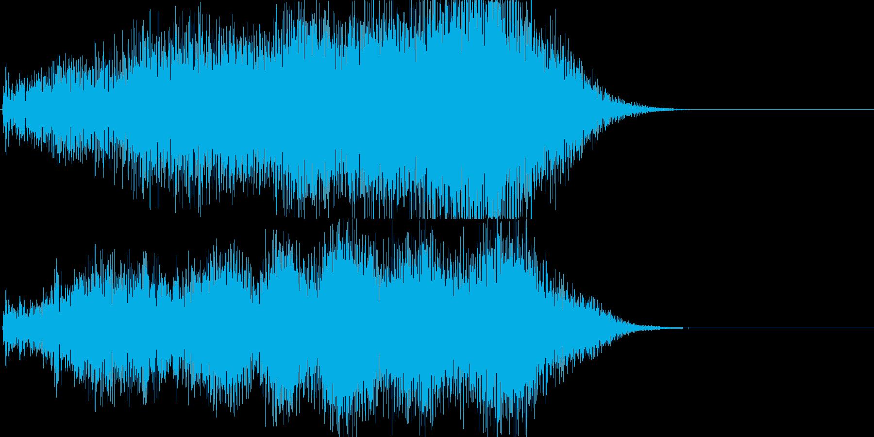 不気味なサウンドエフェクト(お化け屋敷)の再生済みの波形