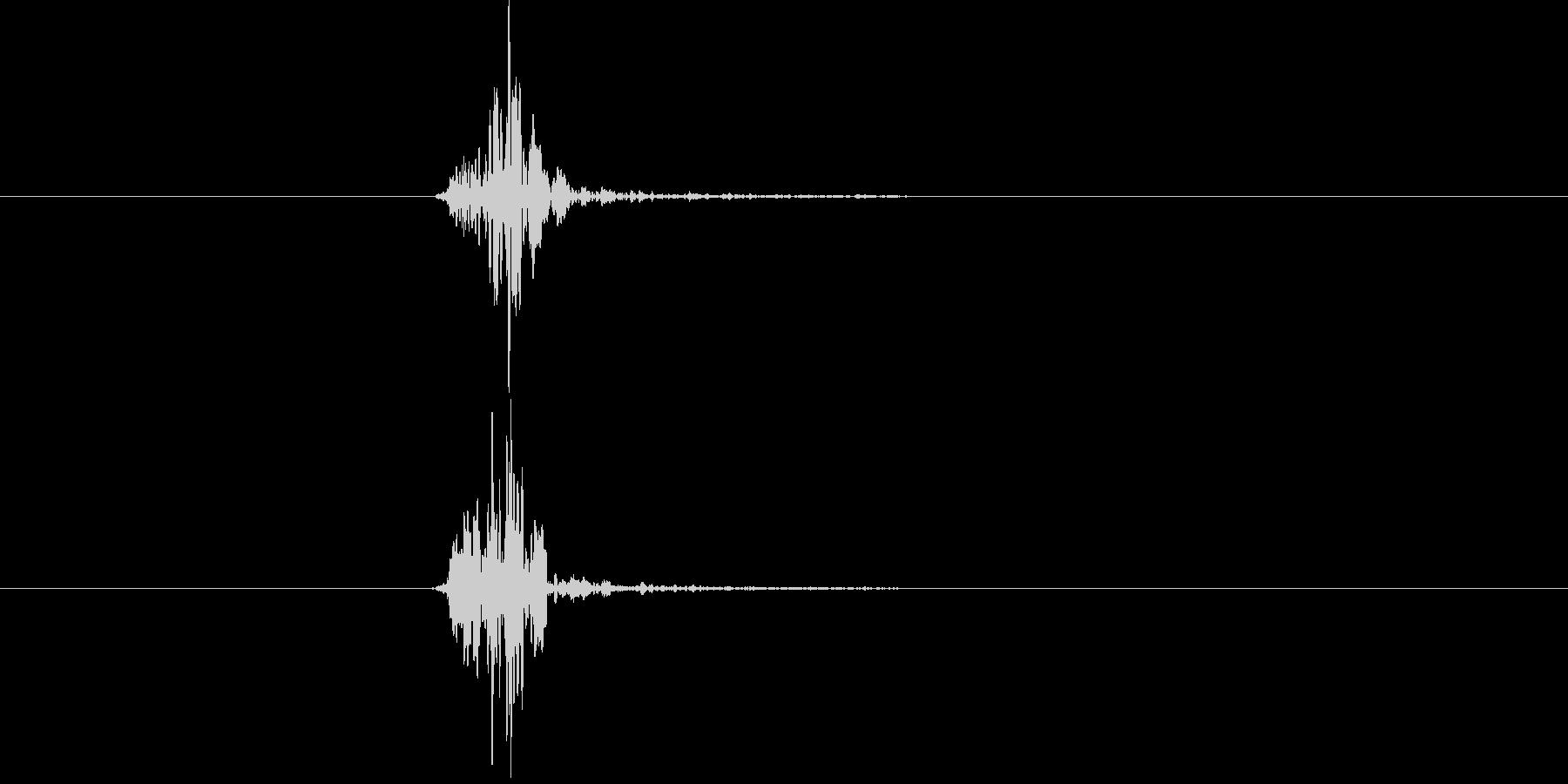 空振り、風切り音4の未再生の波形