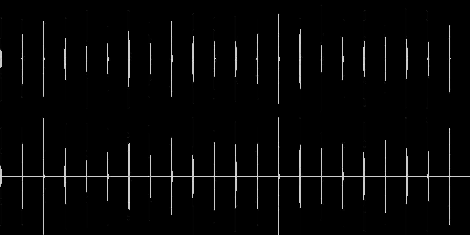 時計の針がカチカチ(プラスチック製時計)の未再生の波形