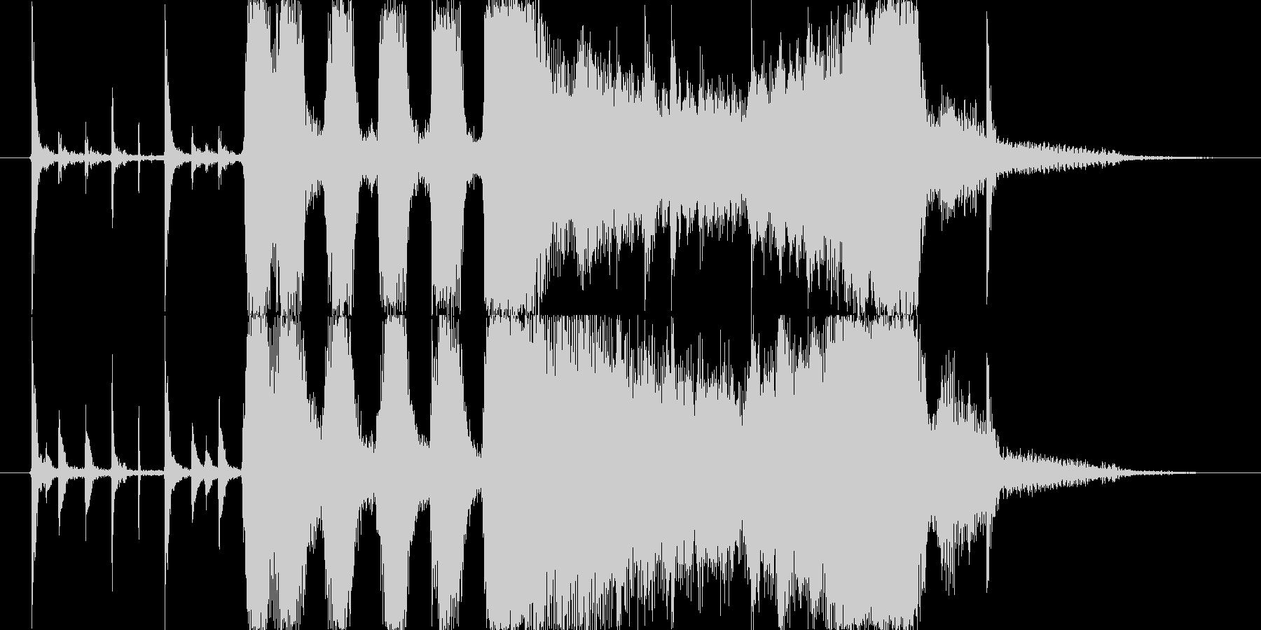 ブラス系ジングルの未再生の波形
