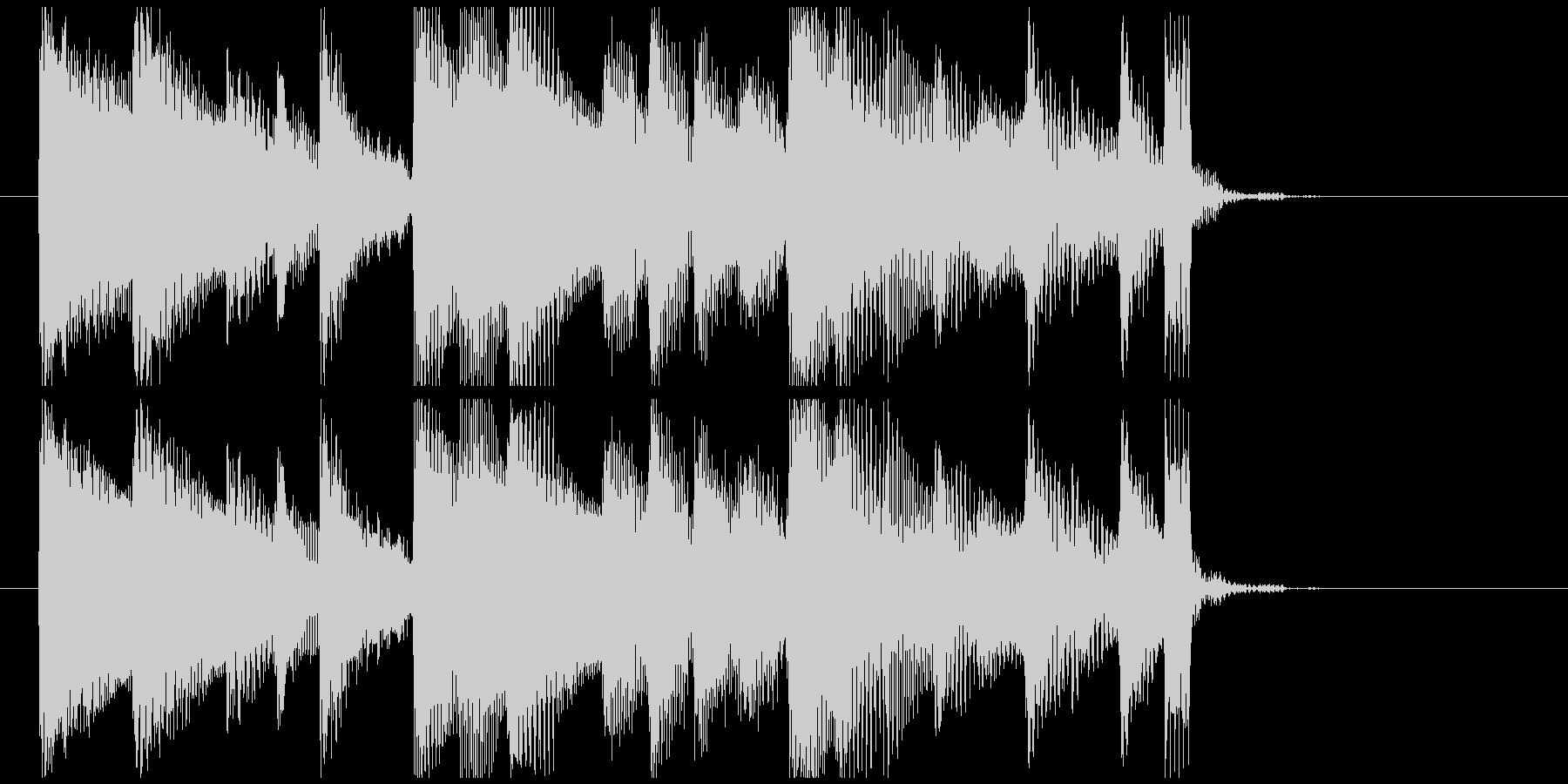 【ジングル】アコースティックギターの未再生の波形