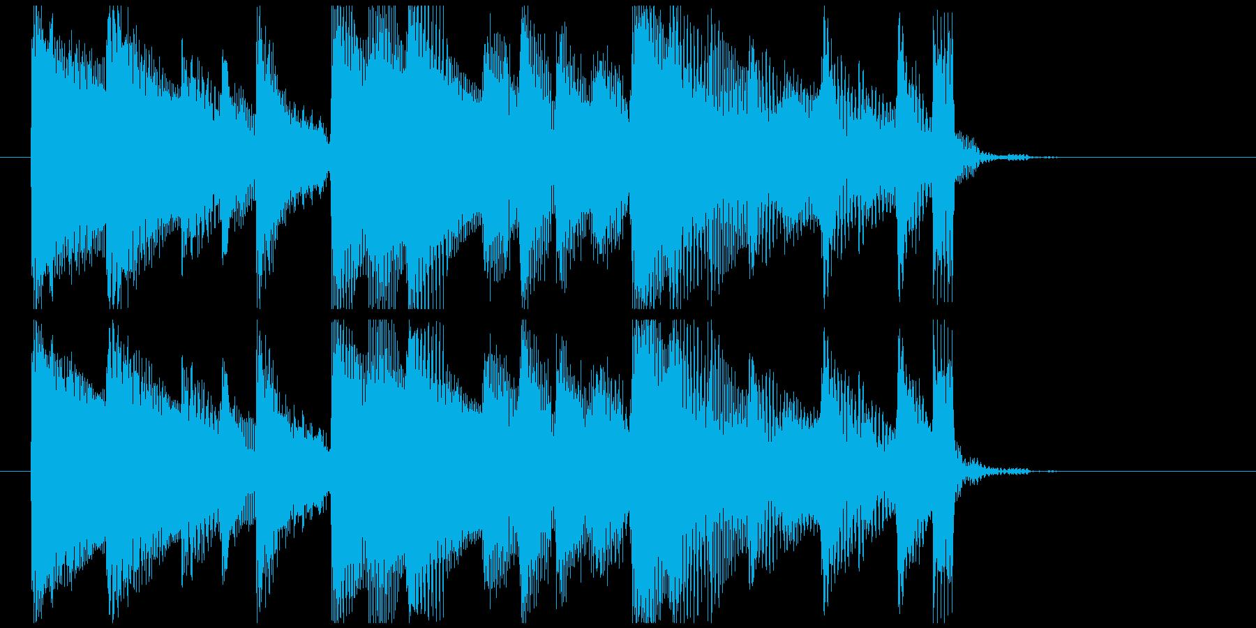 【ジングル】アコースティックギターの再生済みの波形