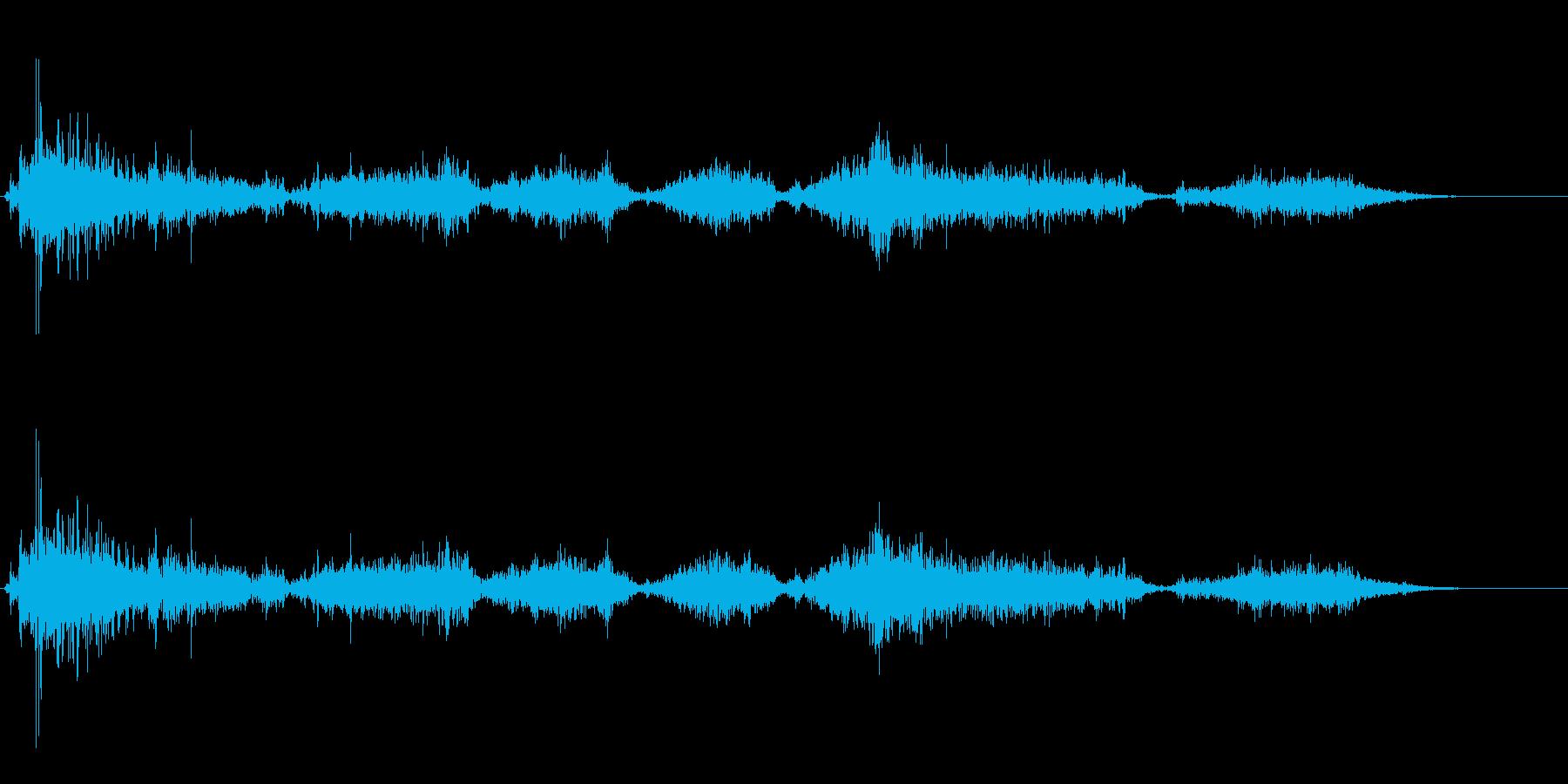 鼻をかむ音の再生済みの波形
