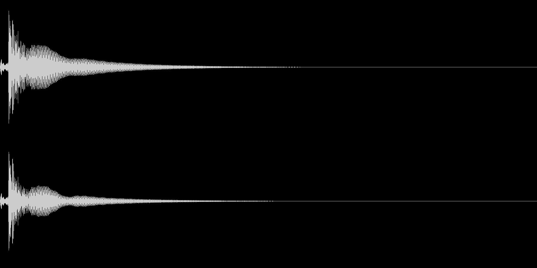 コンガ ボンゴ リフ6 ポコ!の未再生の波形