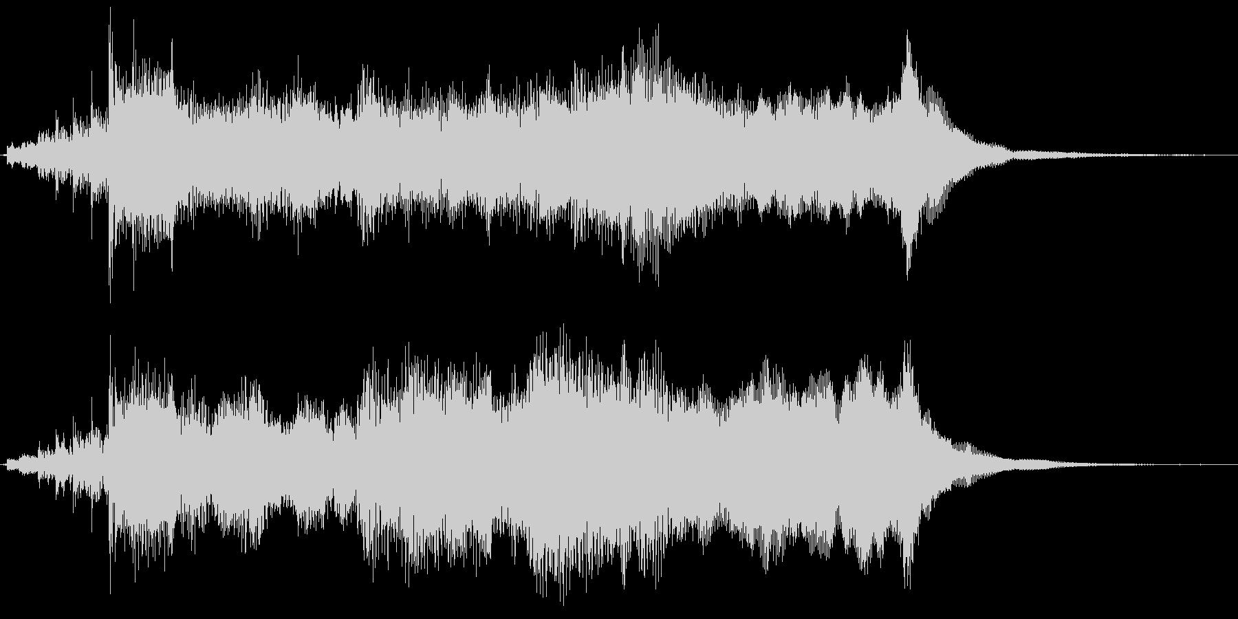 短め・壮大なオーケストラのファンファーレの未再生の波形