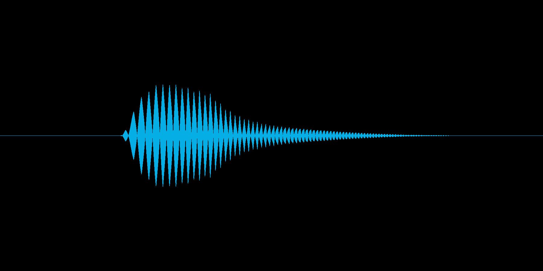 【足音】コミカル 丸みのある非現実系 左の再生済みの波形