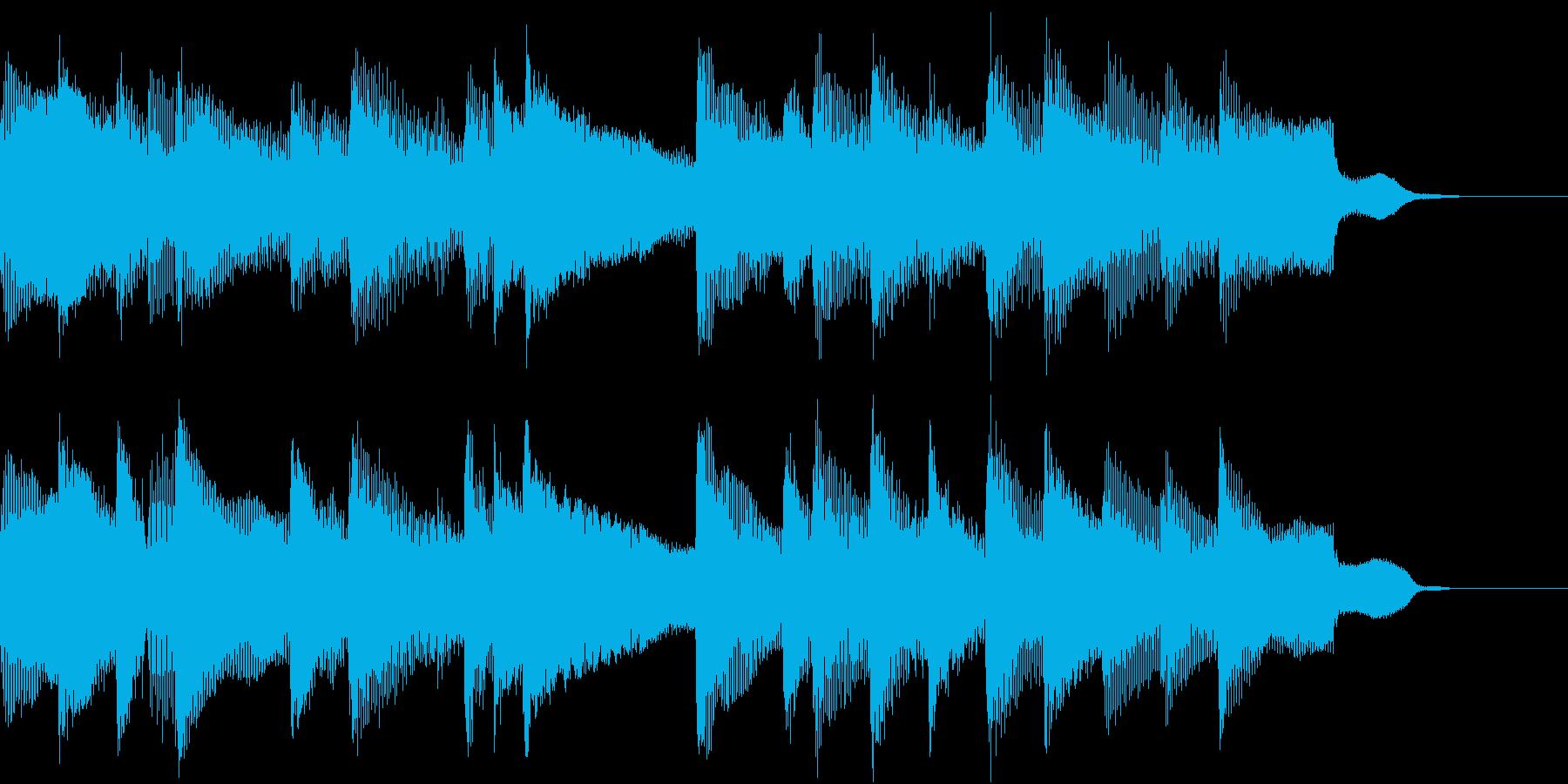 落ち着いた雰囲気のBGMの再生済みの波形
