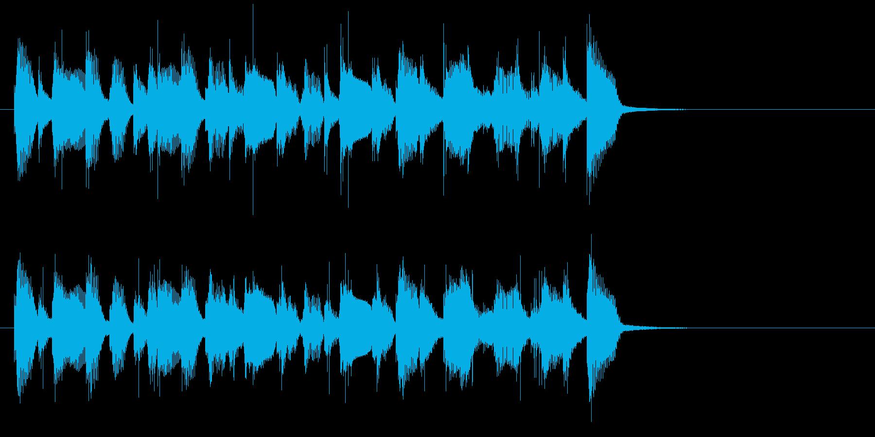 陽気なコーポレート系ポップサウンド♪の再生済みの波形