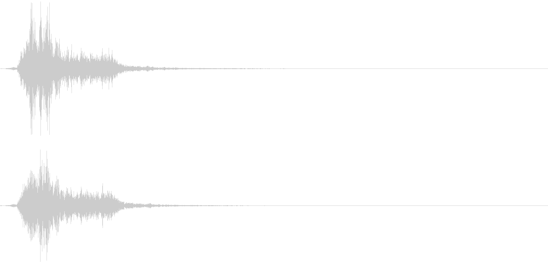 斬撃音4(斧などの重い武器)の未再生の波形