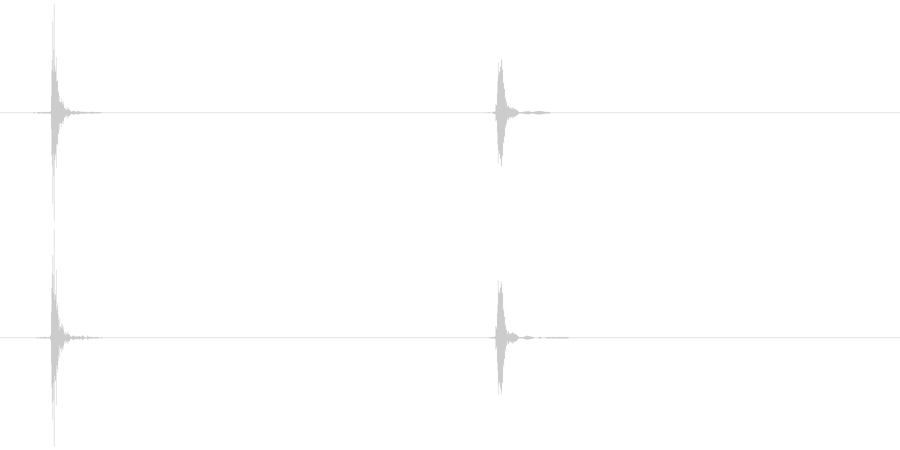 マウスのホイールリック  (カ、コッ)の未再生の波形