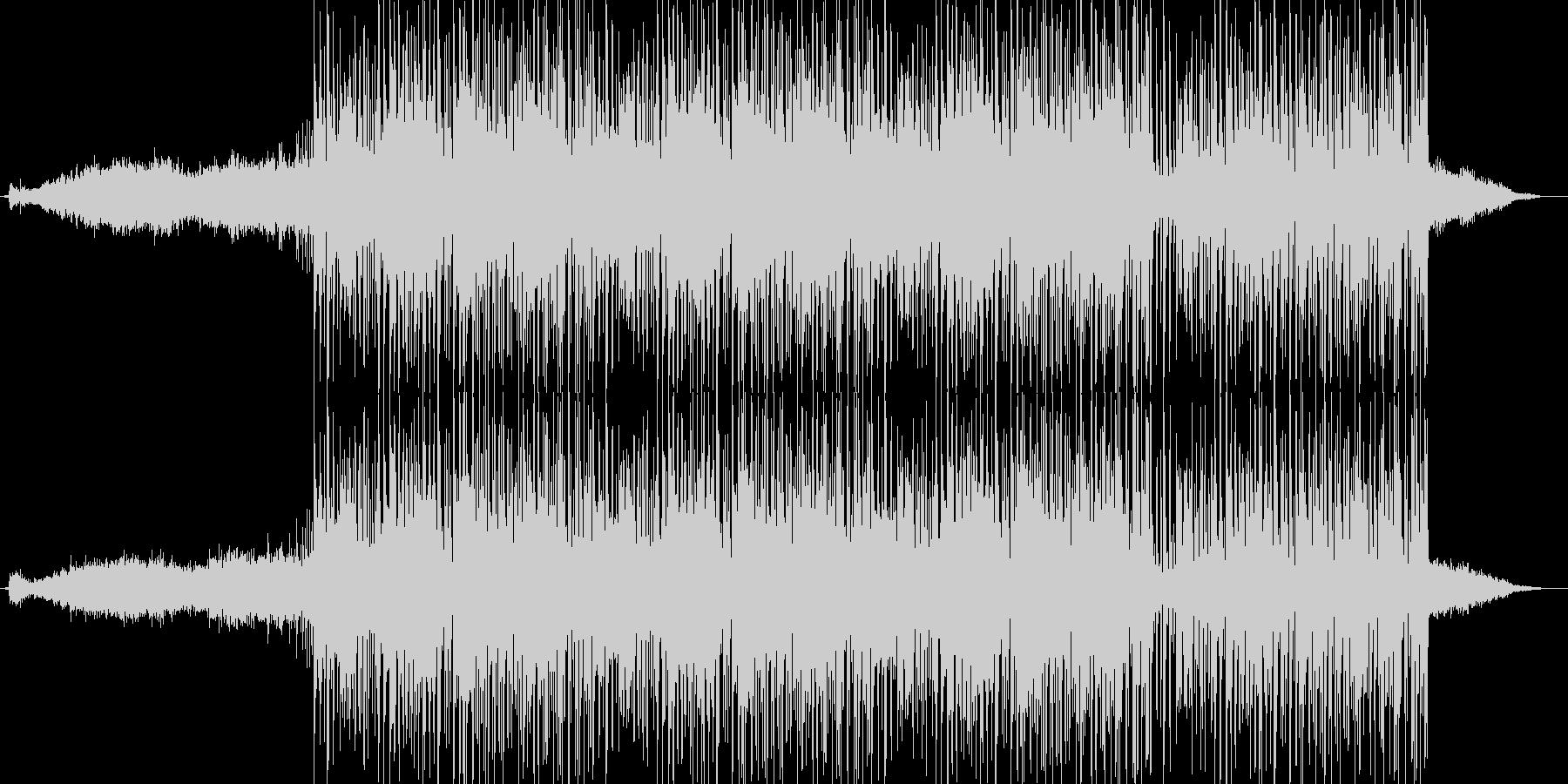 緊迫感のあるエレクトロニカ(ミドル版)の未再生の波形