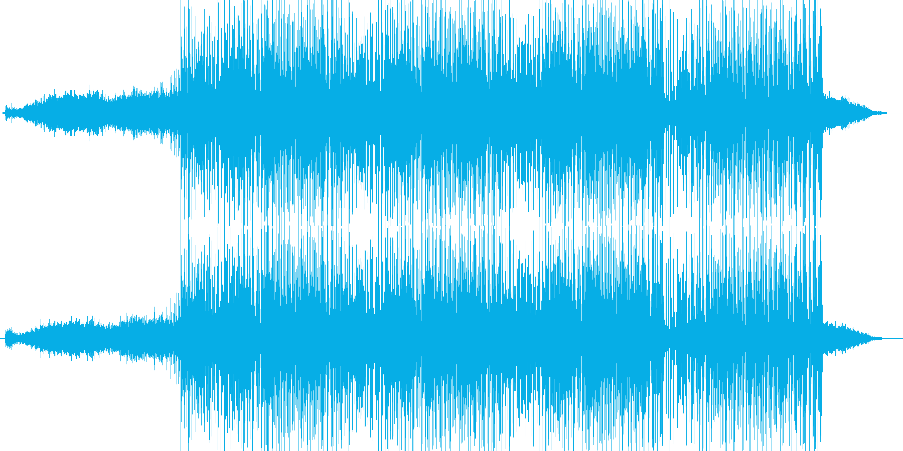 緊迫感のあるエレクトロニカ(ミドル版)の再生済みの波形