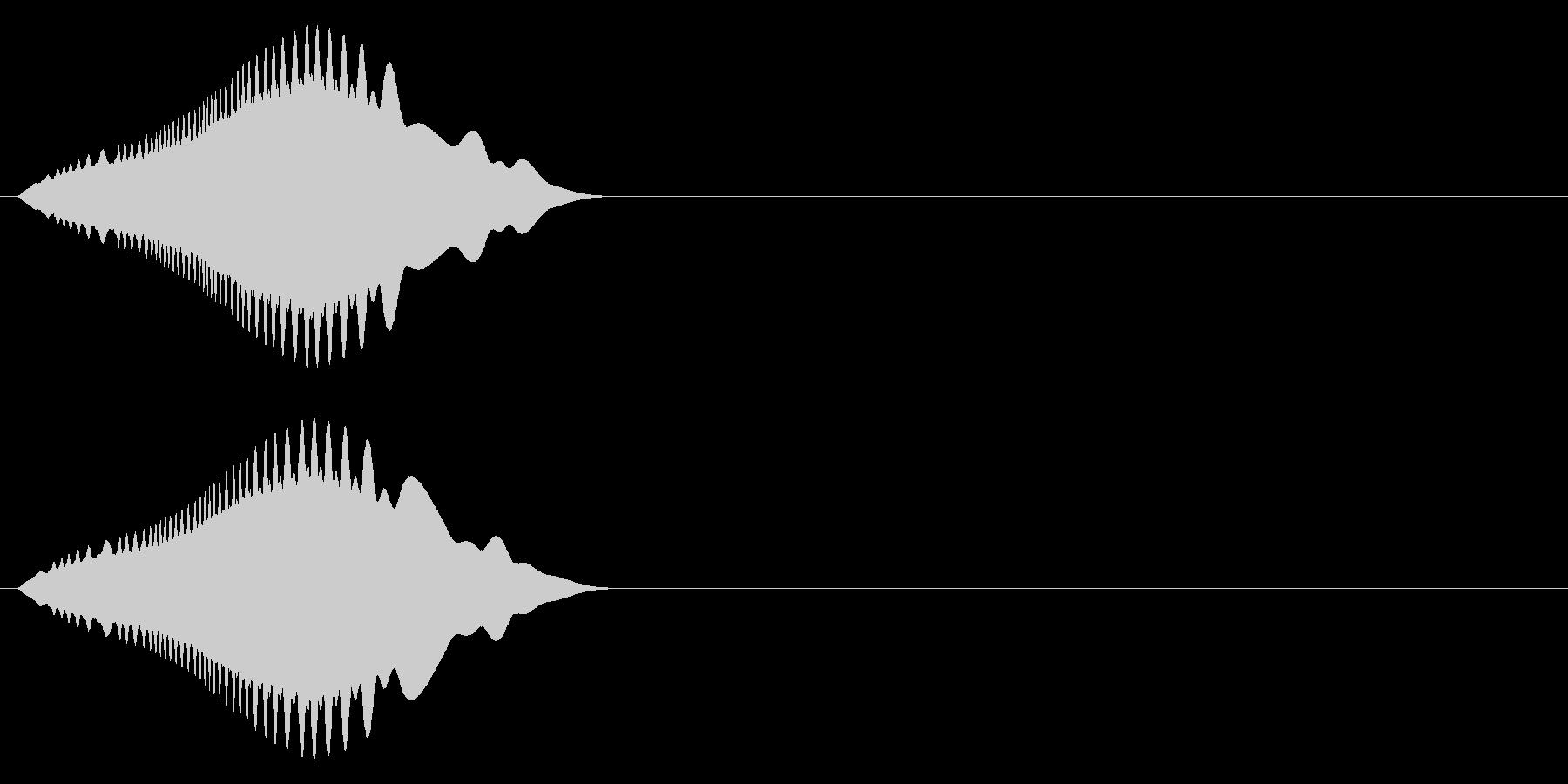 シンプルな効果音 ピィーユ⤵︎ ジャンプの未再生の波形
