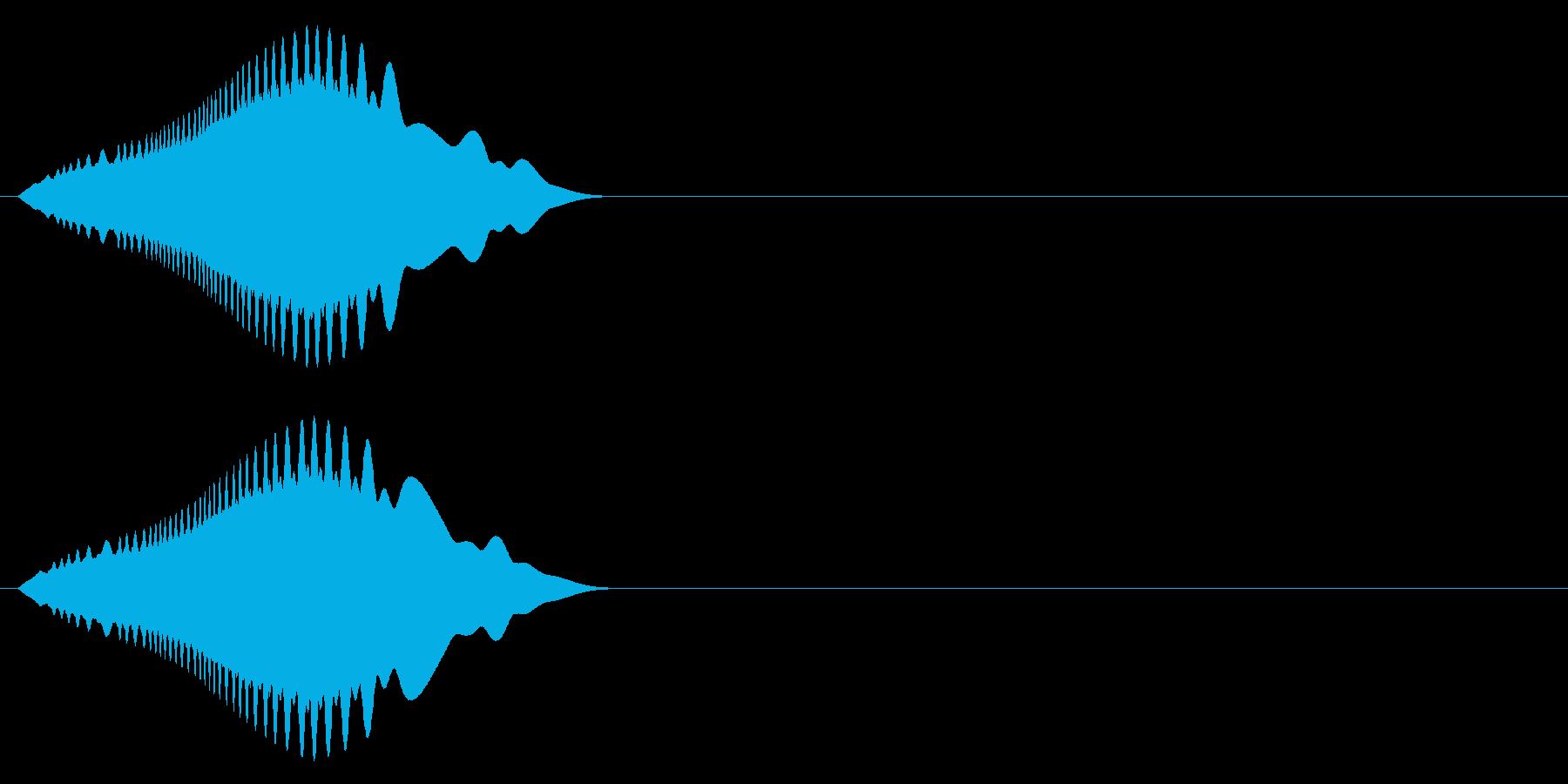 シンプルな効果音 ピィーユ⤵︎ ジャンプの再生済みの波形