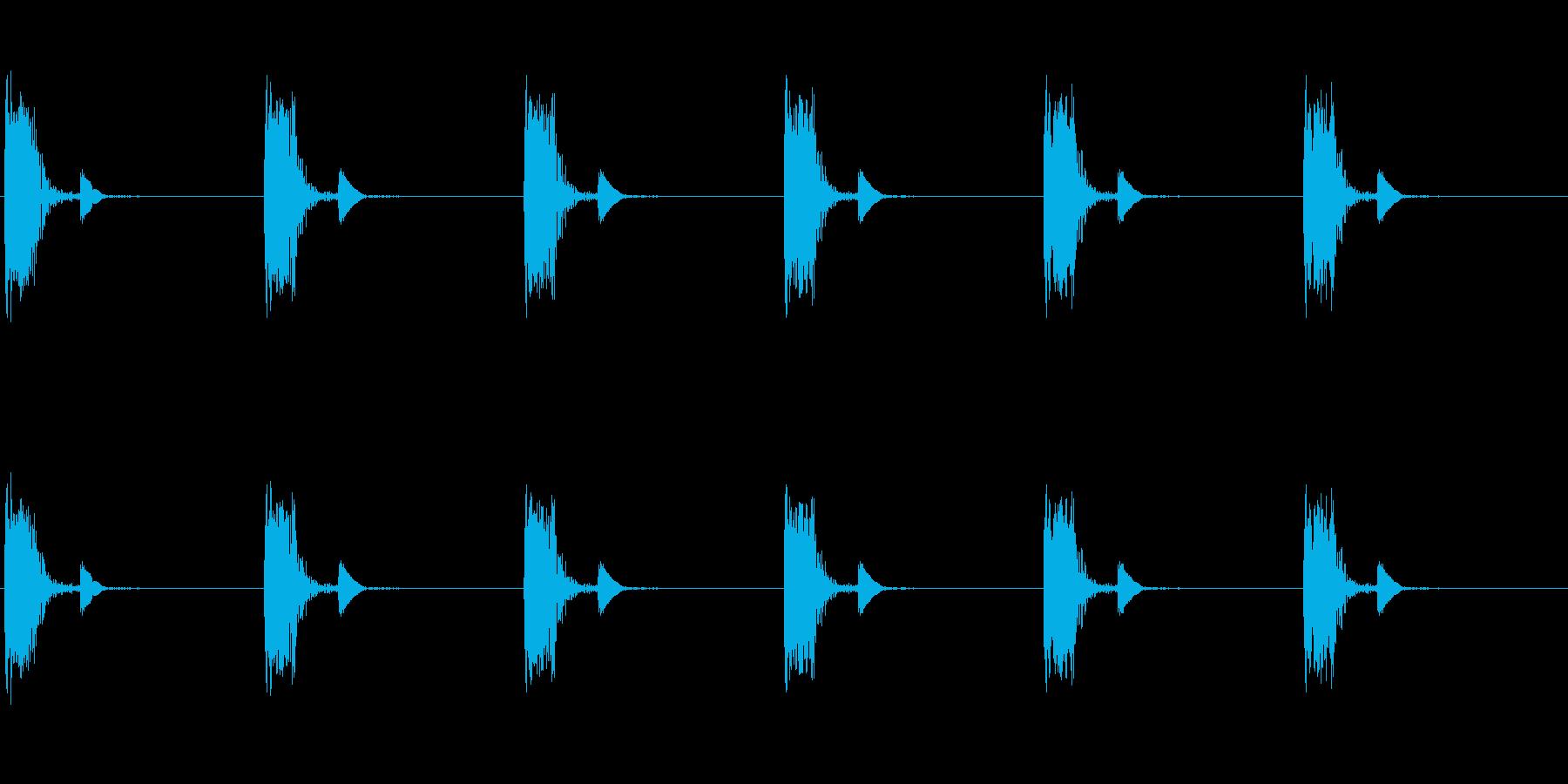 ループ可な心臓音(心拍音・心理音・脈拍…の再生済みの波形