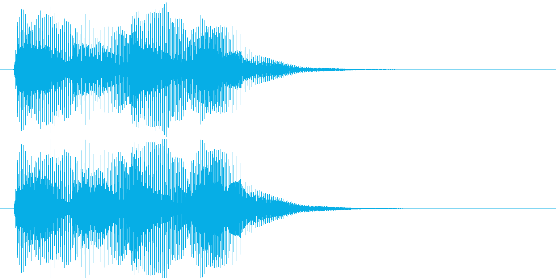 ピロピロ(ピアノキャンセルSE:低音)の再生済みの波形