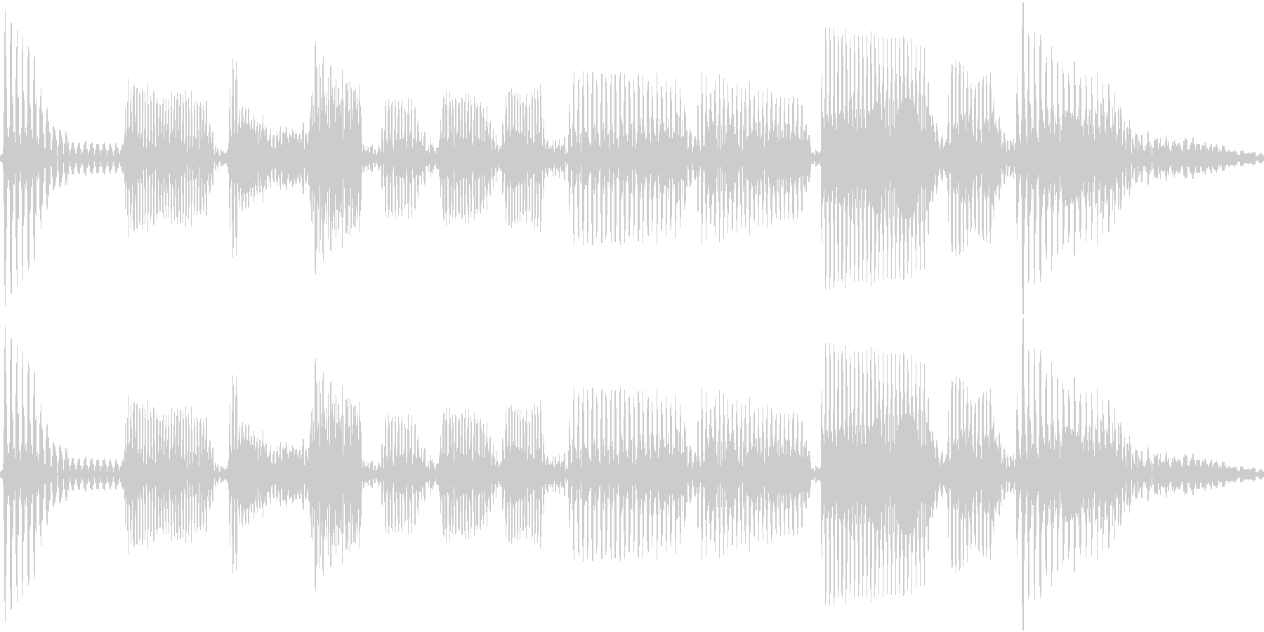 エレキベースのフレーズ2の未再生の波形