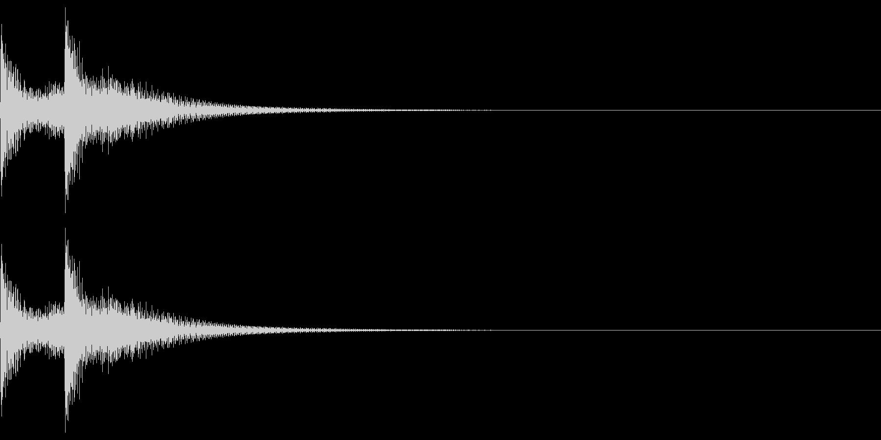 三味線フレーズ02(テロン)の未再生の波形