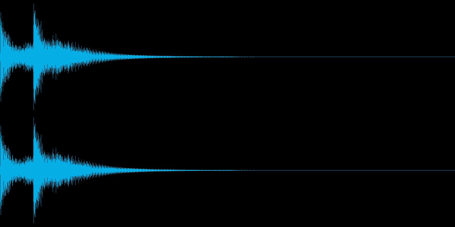 三味線フレーズ02(テロン)の再生済みの波形