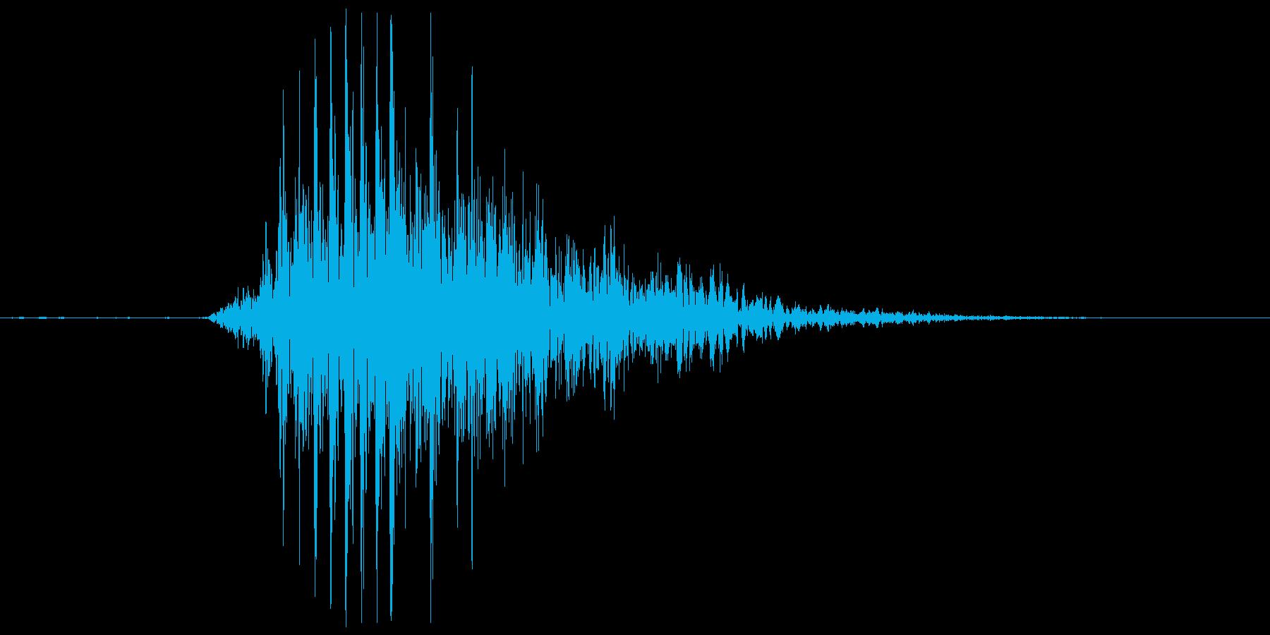 ウァウ~の再生済みの波形