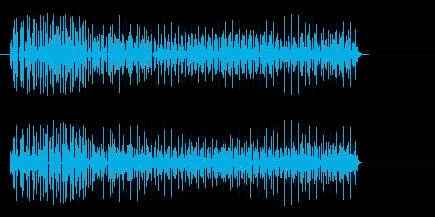 ポワァン(コミカル)の再生済みの波形
