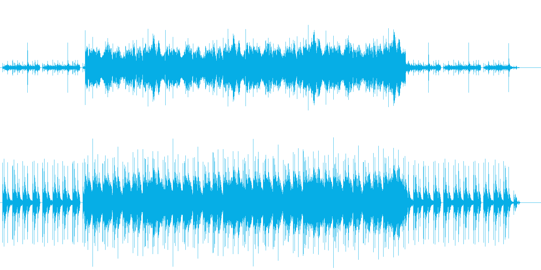RPGの洞窟などで流れてそうなBGMの再生済みの波形
