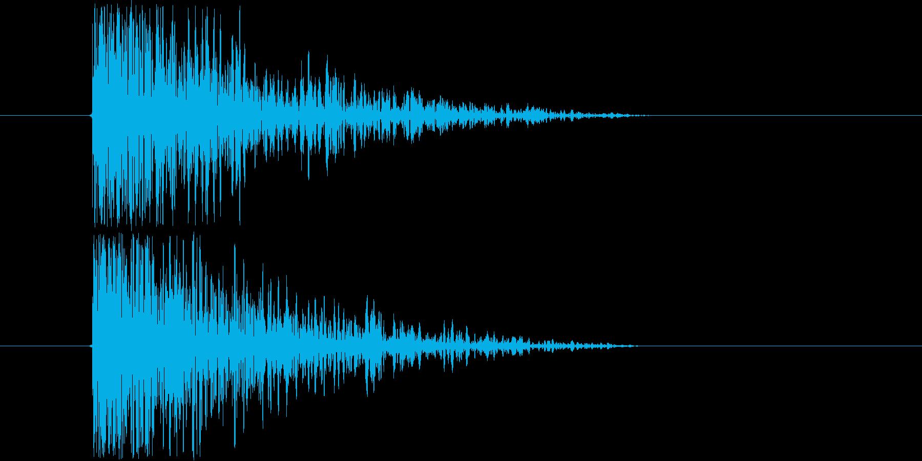 低音のインパクト音ですの再生済みの波形