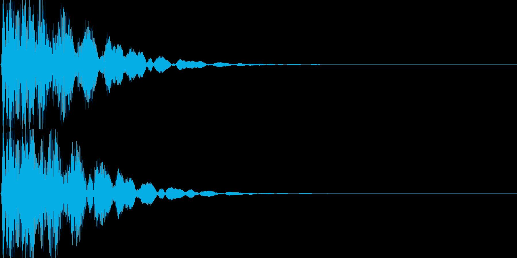 ゲーム(アイテム入手、決定音)などの再生済みの波形
