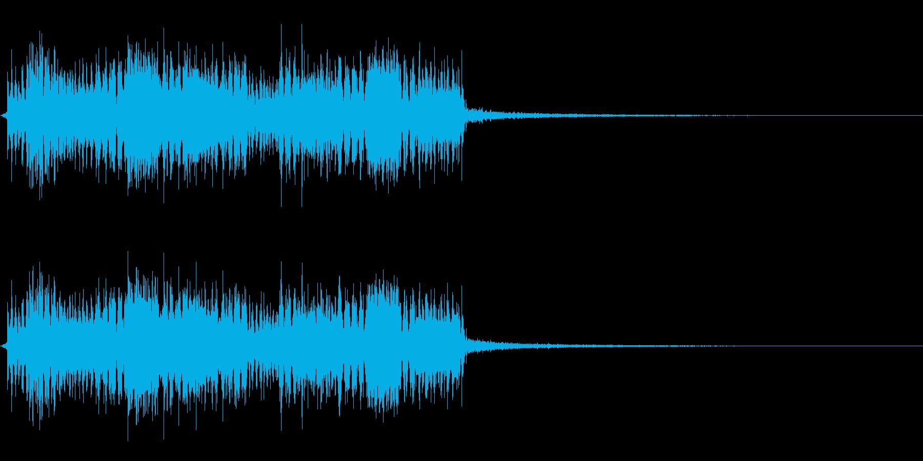 ビリビリビリビリ(雷の魔法、エフェクト)の再生済みの波形