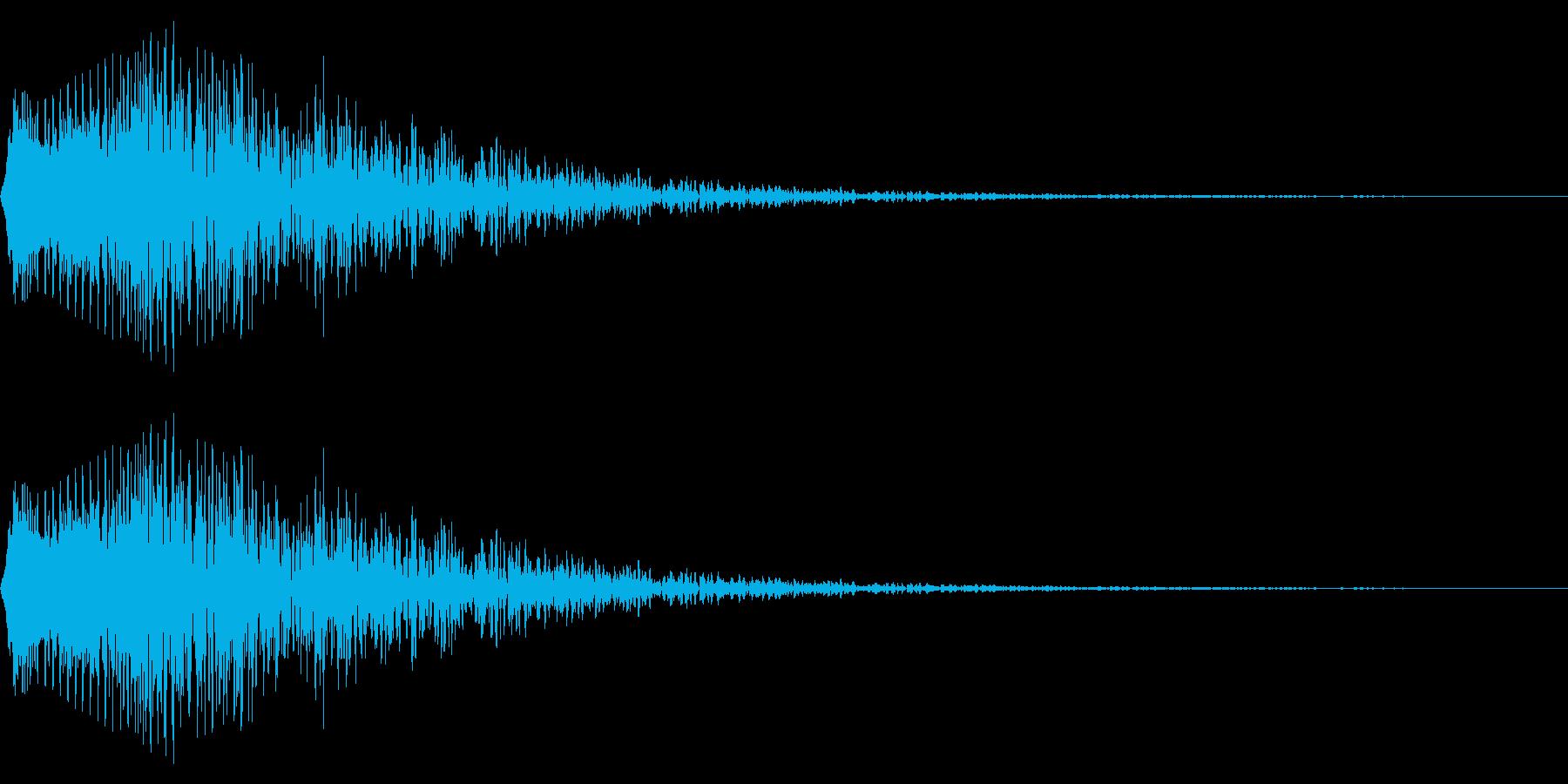 落胆などのイメージの擬音です。の再生済みの波形
