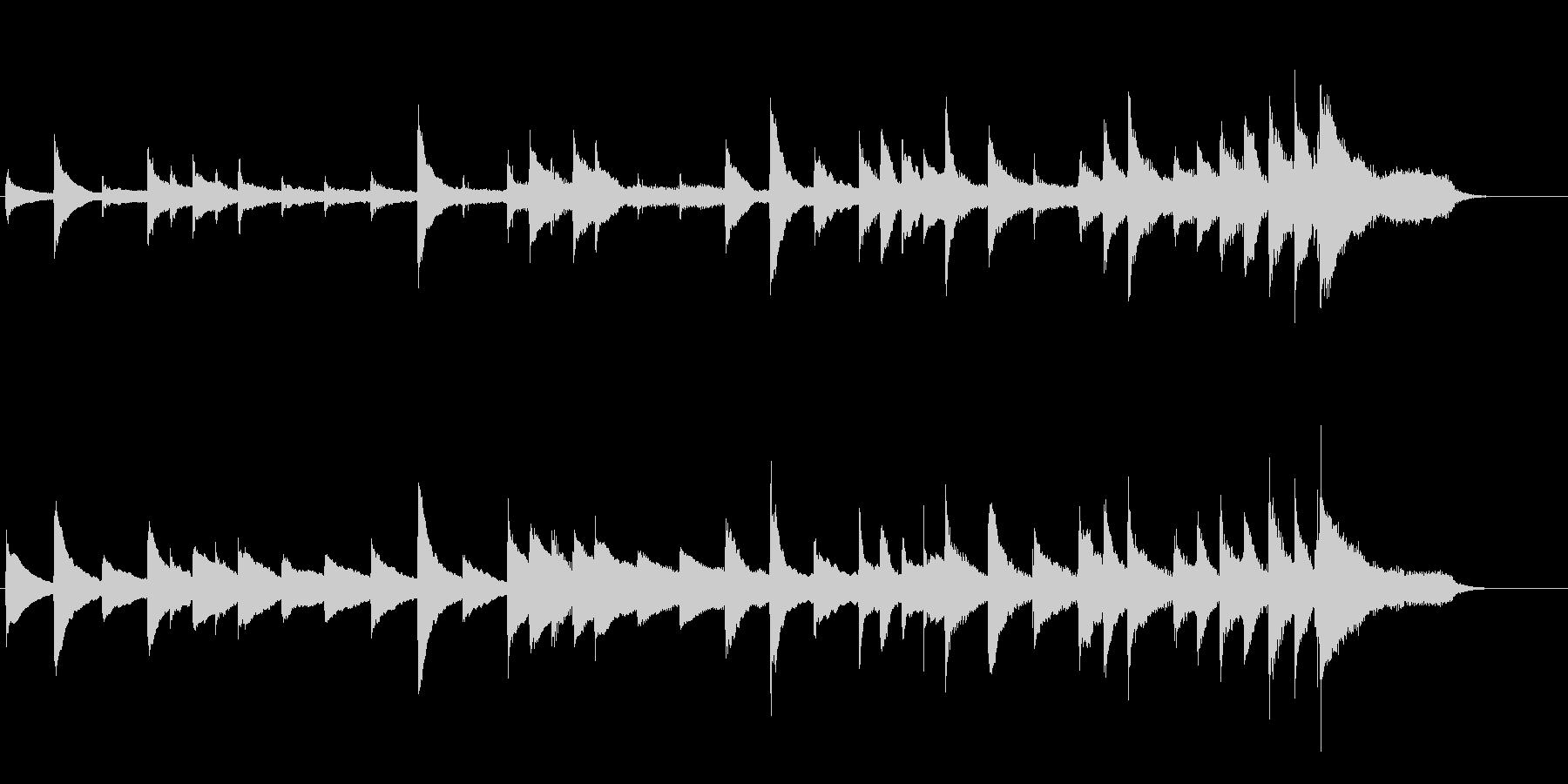 あたたかなピアノソロのバラードの未再生の波形