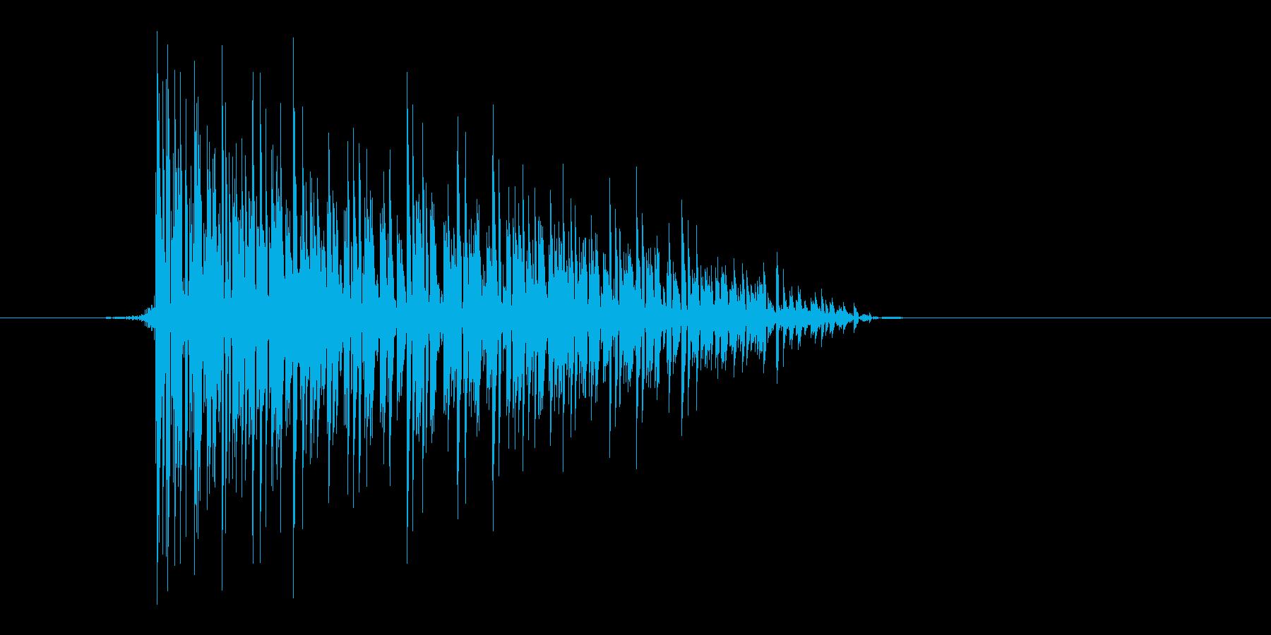 ゲーム(ファミコン風)爆発音_010の再生済みの波形