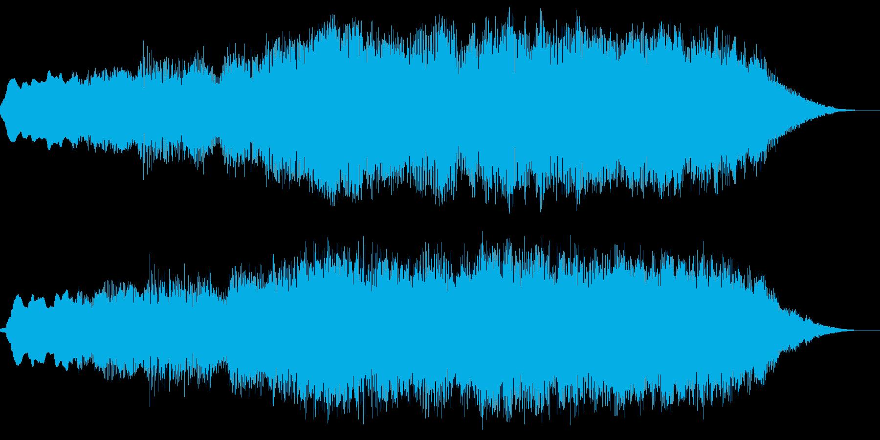 達成感のある管楽器によるジングルの再生済みの波形