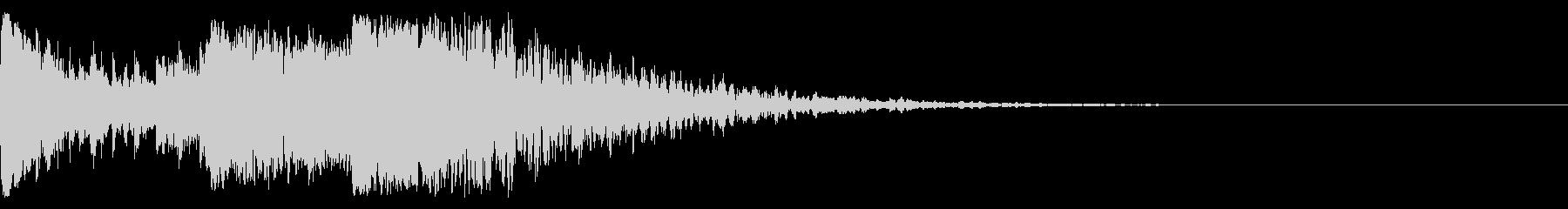 ハリウッド系 ド迫力ドラム ジングル02の未再生の波形