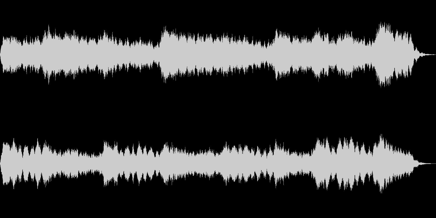 アンビエントな音色で構成した抽象描写作品の未再生の波形