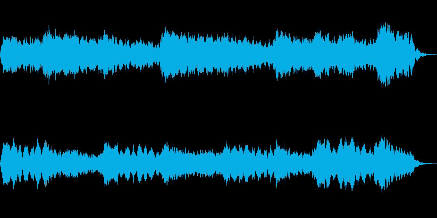 アンビエントな音色で構成した抽象描写作品の再生済みの波形