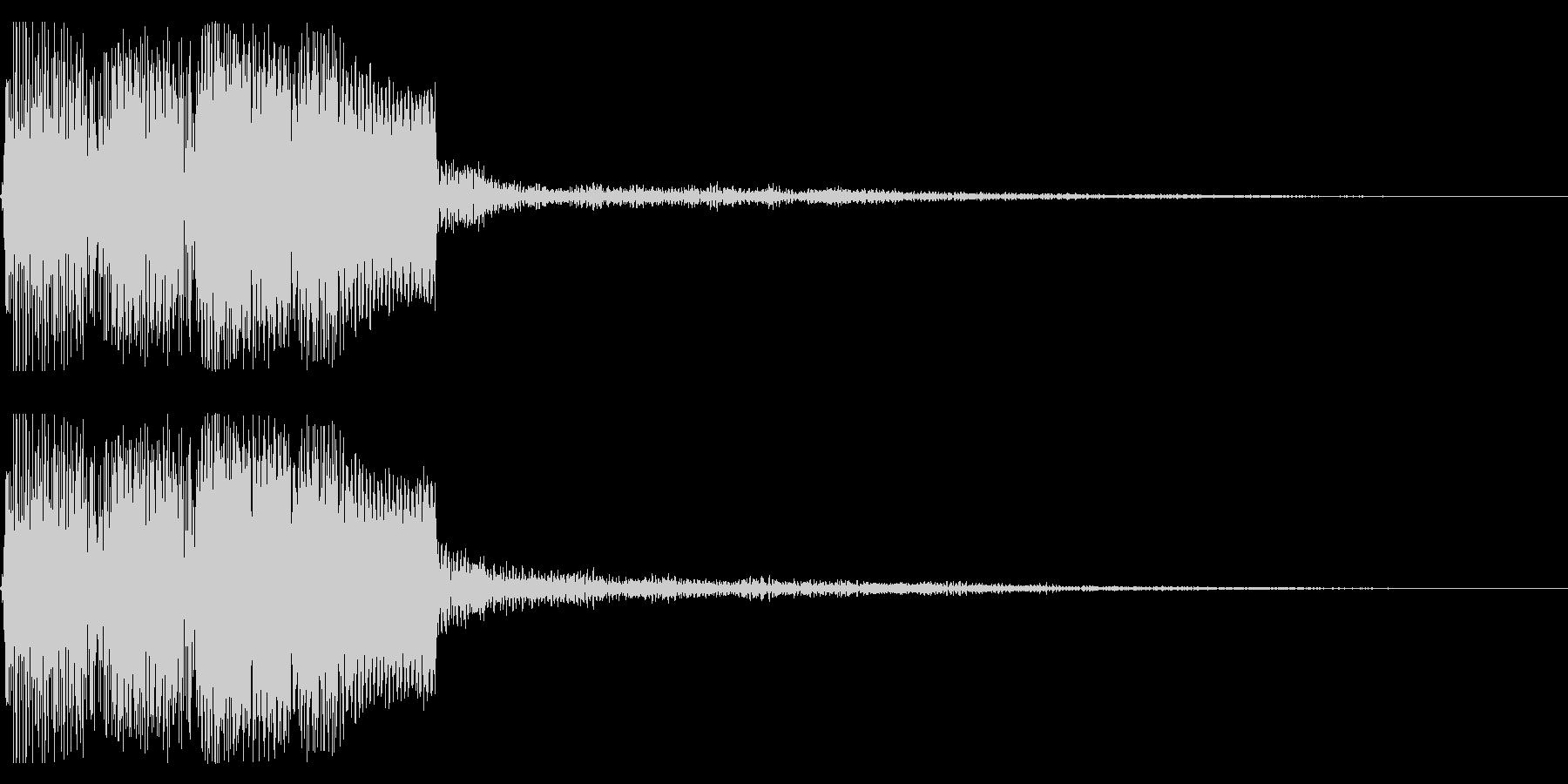レトロな決定音 開始 選択 スタートの未再生の波形