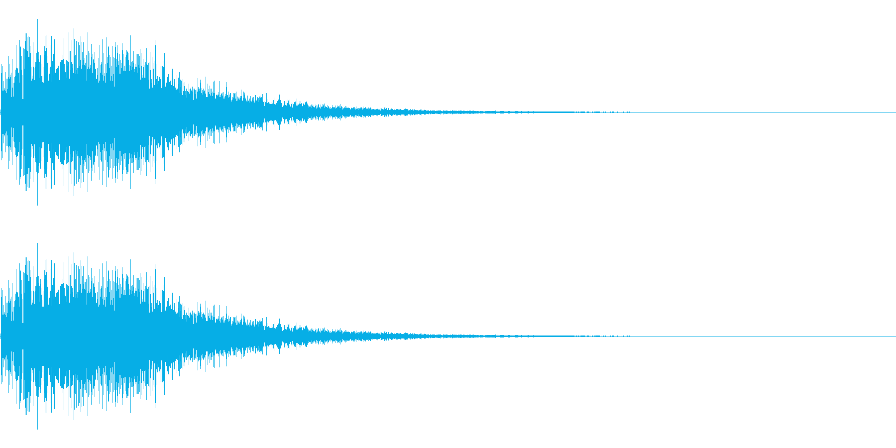 アニメにありそうなジェット噴射の再生済みの波形