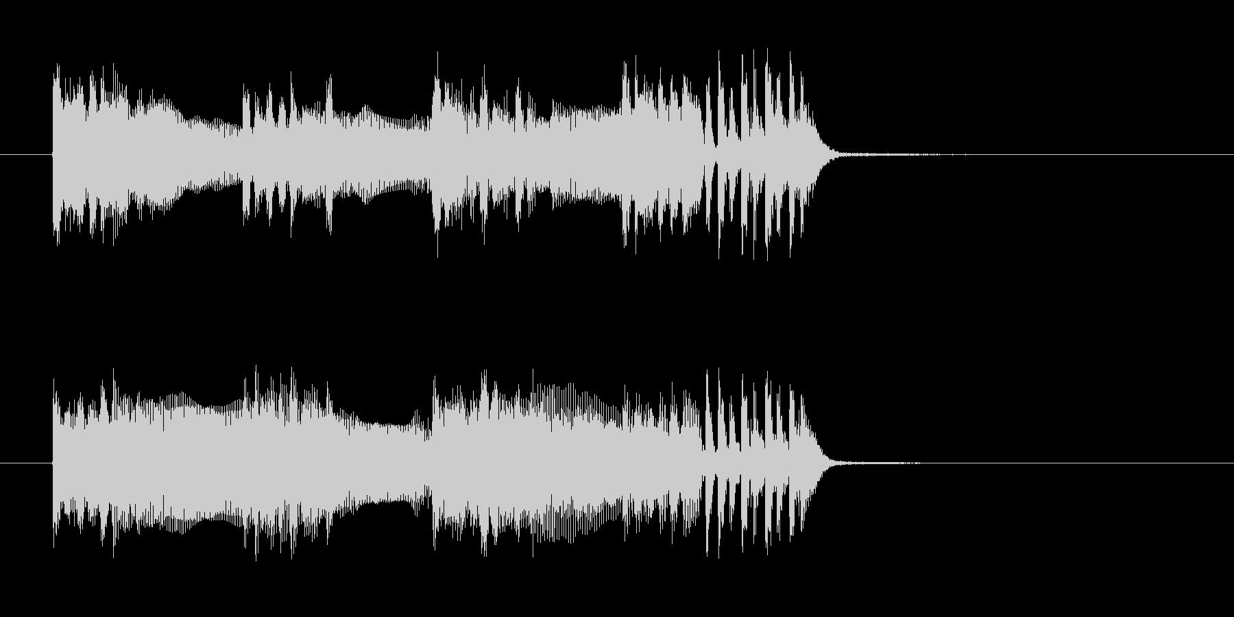 神秘的なテクノとロックでクールなジングルの未再生の波形