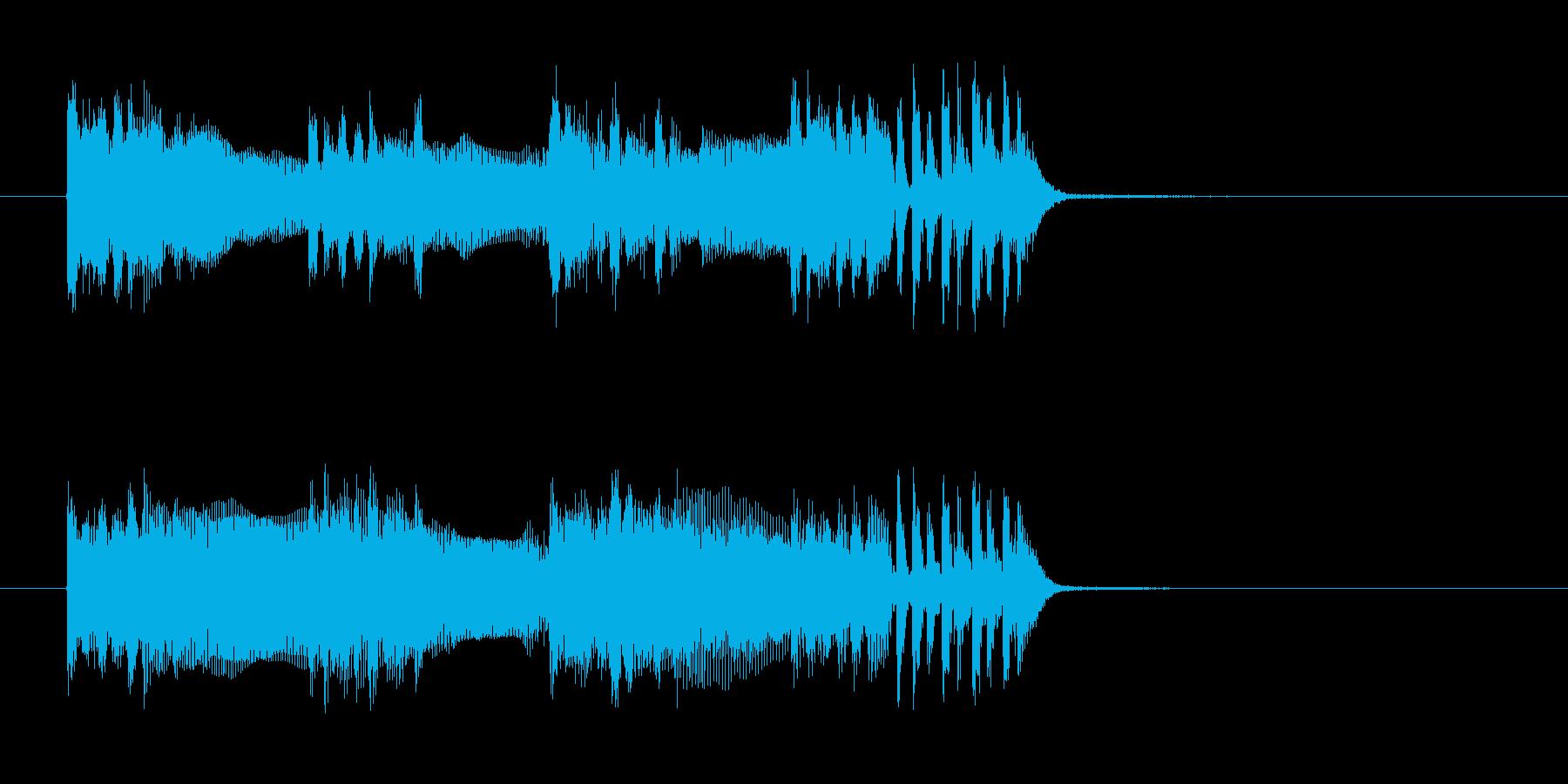 神秘的なテクノとロックでクールなジングルの再生済みの波形