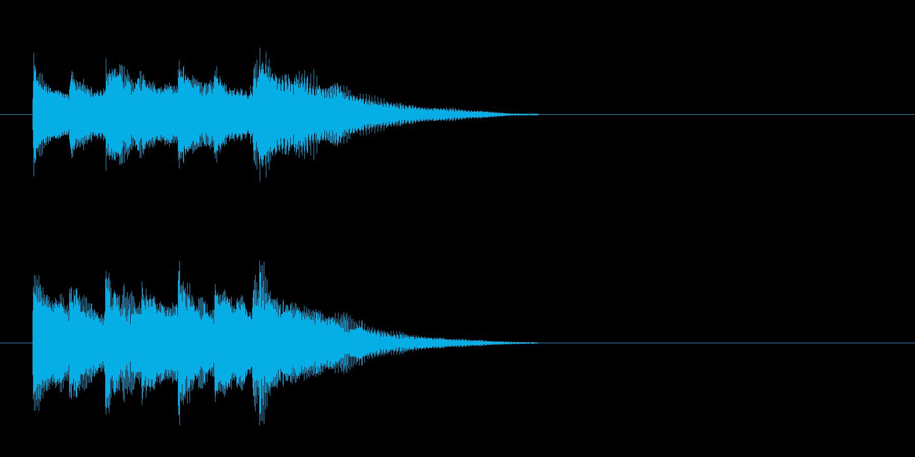 駅のチャイム風の再生済みの波形