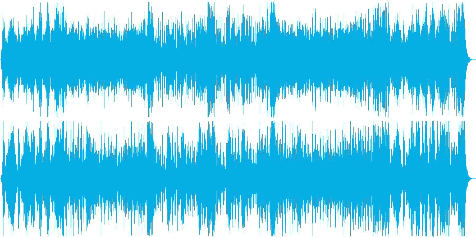 吹奏楽の明るい演奏が特徴のオーケストラの再生済みの波形