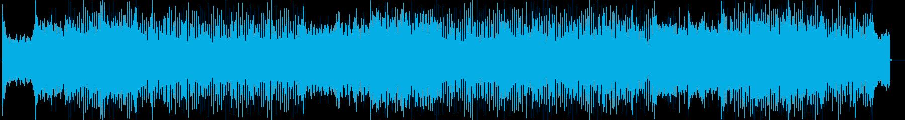 ドキドキ緊迫感シンセサイザーサウンンドの再生済みの波形